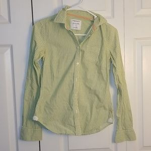 Stripped American Eagle Button up